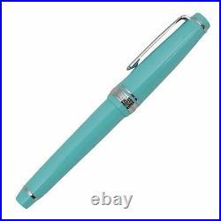 Sailor Professional Gear 14k Slim MORITA Silver Fountain Pen Light Blue NEW Rare