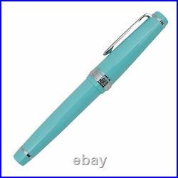 Sailor Professional Gear 21k MORITA original Silver Fountain Pen Blue NEW Rare
