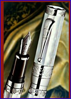 Sealed Montblanc Francois I 888 Mother Of Pearl18 K White Gold Fountain Pen 2008