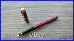 UNUSED RARE France 1980's Purple Parker 180 F Nib Fountain Pen