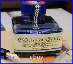 Ultra Rare-NOS-Mint Pelikan M250 Blue Set-12C HEF Nib-Vintage Inkwell