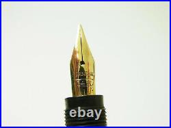 Ultra Rare OMEGA No 651 Hard Rubber Safety Fountain Pen Flexible F Nib F to BBB