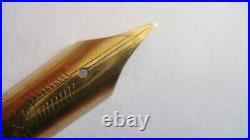 Ultra Rare! Parker Maxima Vacumatic, Semi Flex 14k Relief Broad Nib, England