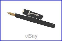VINTAGE MONTBLANC SIMPLO N 25 Safety Fountain Pen 1920 18 K Gold Nib Snake Clip