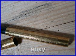 Very Rare Eclipse Clip Cap Fountain Pen 18k Gold Filled Case 14k Nib