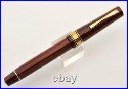 Very Rare Omas Cristoforo Colombo II Le Briarwood Fountain Pen 18k Gold M Nib