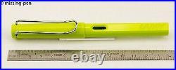 Very rare LAMY Safari Fountain Pen Special Edition LIME from 2008 (nib choice)