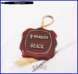 Very rare Parker Premier Cartridges Fountain Pen in Black-Gold with 18K M-nib