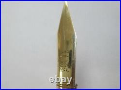 Vintage LeRoy Fairchild #6 Dip Ink Pen & Fairchild NIB Gold & Black RARE/ORNATE