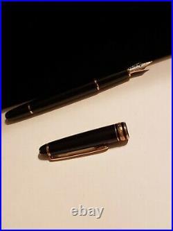 Vintage RARE 1950's Montblanc 146 Two Tone 14C-585 Gold F Nib Part & pen