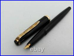 Vintage Rare 1960's Reform 4388 Black Flexible Hooded 14K Gold Nib Fountain Pen