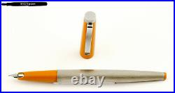 Vintage & rare LAMY 25P Fountain Pen with F-nib Silver-Yellow / W. Germany (1)