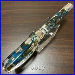Visconti Fountain Pen Opera Master Demo Rain Forest Nib 23k Pd950 Medium Rare