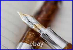 Visconti Luigi Millenium Limited Edition Amber Fountain Pen Low #8/100 RARE