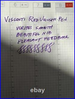 Visconti Urushi Burgandy Fountain Pen Extremely Rare Nib Tuned By Mike Masyama