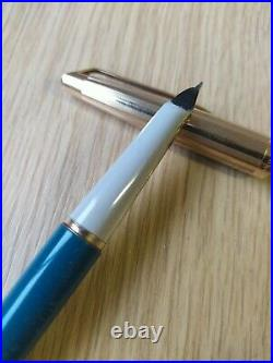 WATERMAN C/F 875 FOUNTAIN AND ballpoint pen SET IN Case CF 14K NIB M vtg rare