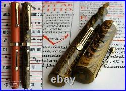 Waterman 52V New York Olive Ripple Fountain Pen 1929. 14K FM Full Flex Nib. Rare