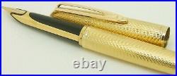 Waterman Cf 18k. 750 Solid Gold Covered Fountain Pen Boxed Obb Nib Vgc Rare