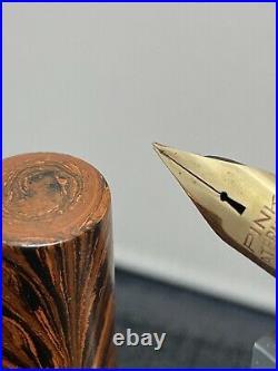 Waterman Ideal #7 PINK RARE 14k vintage FLEX Keyhole nib needs work COLLECTORS