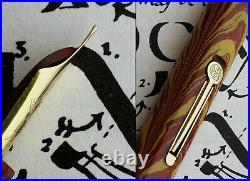 Waterman New York 94 Rose Ripple Fountain Pen 1928. 14C F TU FULL Flex Nib. Rare