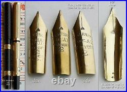 Waterman PSF Solid Gold F. D. W. Fountain Pen 1915. 14K F/M Flex Nib. Ultra Rare