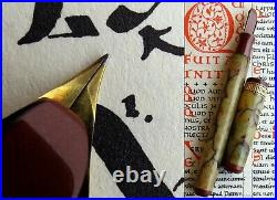 Waterman Patrician Onyx 1st Issue Fountain Pen 1929. 14C F Flex Nib. Mint. Rare