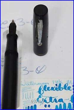 Waterman's RARE Vintage Flex Fountain pen 14k nib extra fine to 2.4mm Canada